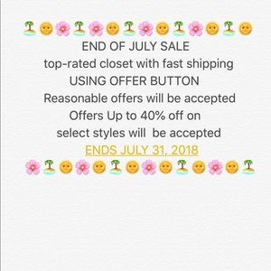 🏝🌞🌸FIRST WEEK OF SUMMER SALE🌸🌞🏝